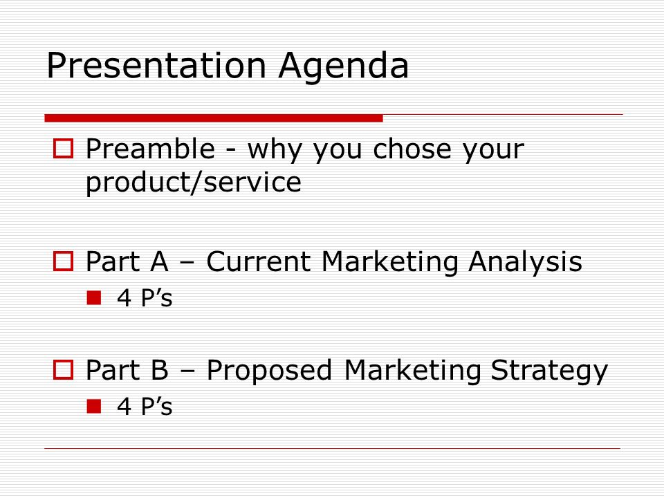 Marketing Plan Template The following template is a suggestion on ...