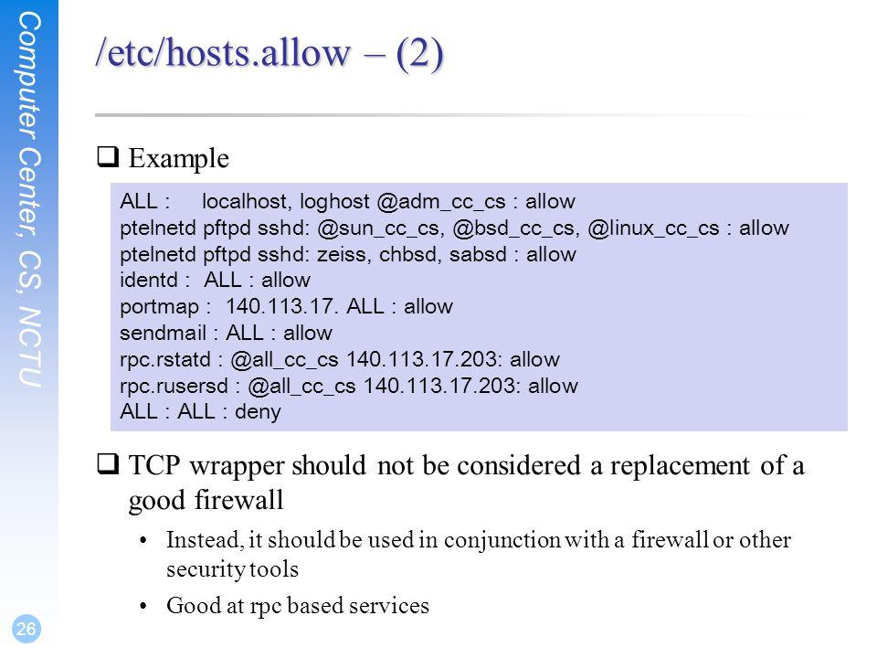Security  Computer Center, CS, NCTU 2 FreeBSD Security