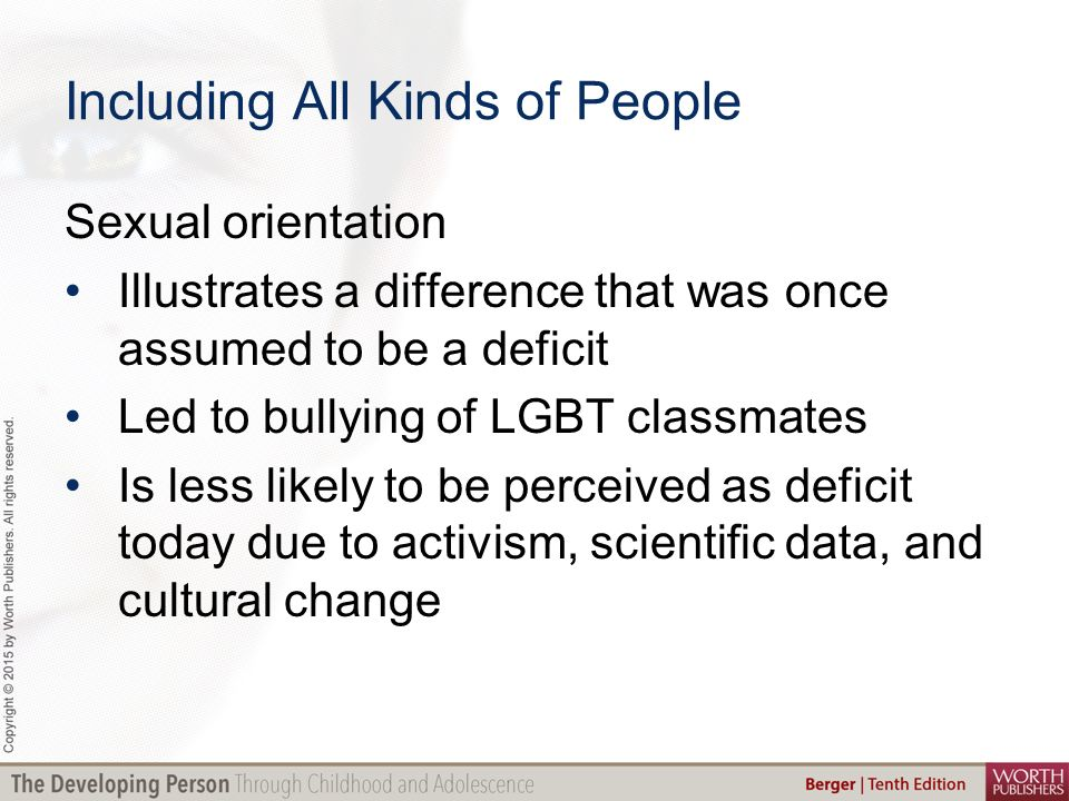 Sexual orientation differences as deficits