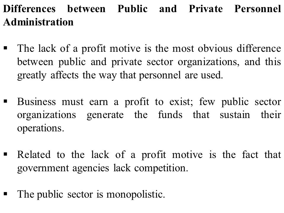 difference between private sector and government sector