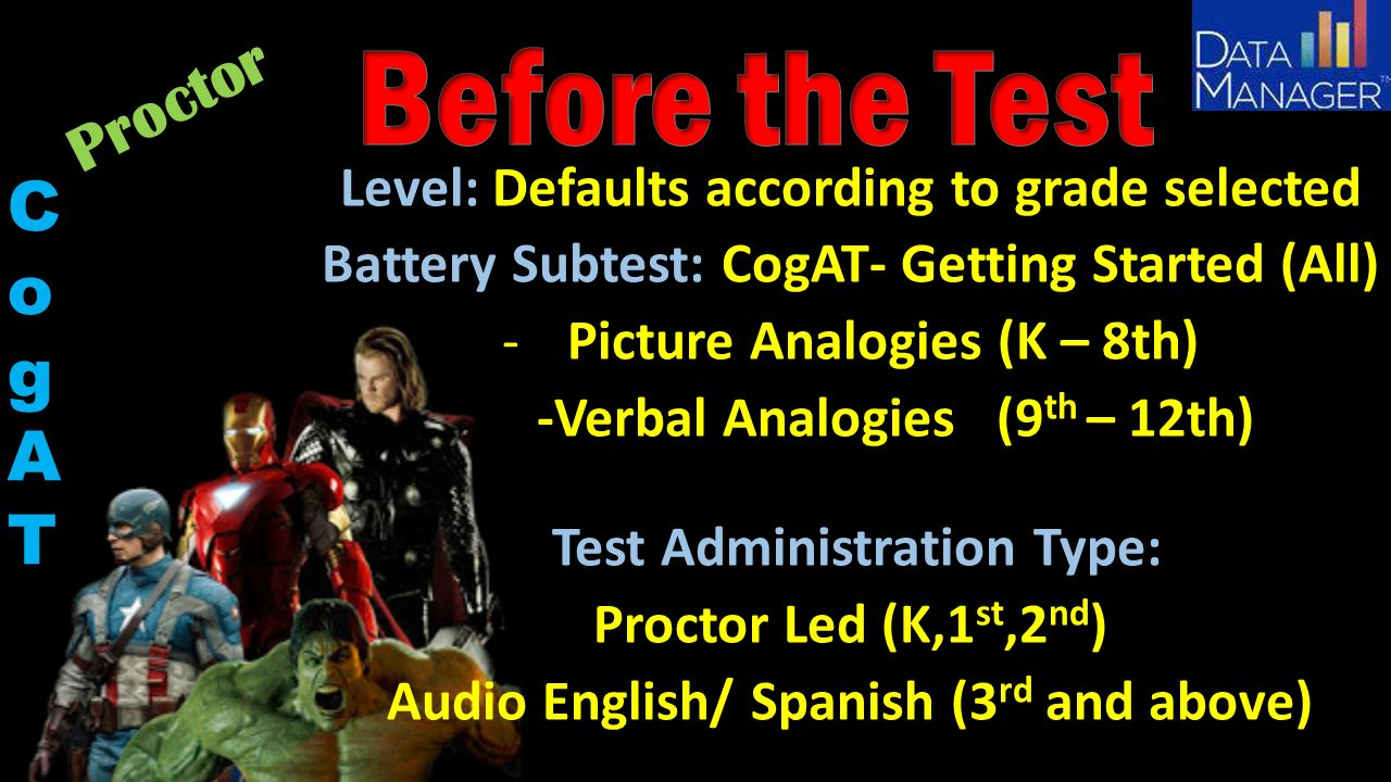 Gt Testing Training October 2015 Cogat Online Agenda Welcome Before