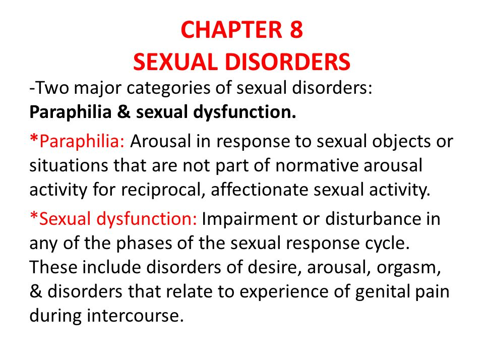 All about sexual disorders