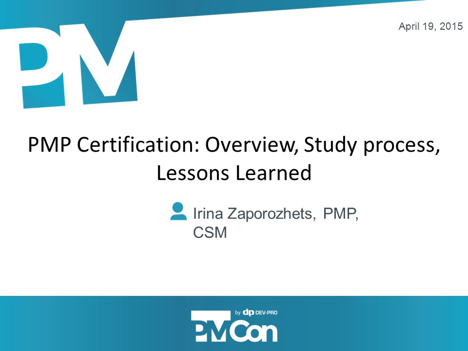 Pmp Certification Overview Study Process Lessons Learned Irina