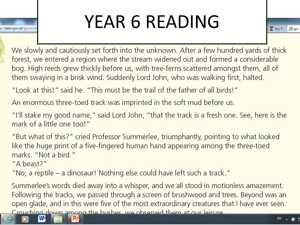 YEAR 6 READING
