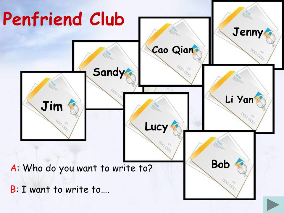 Unit7 A letter to a penfriend Janel Yikang Primary School  - ppt