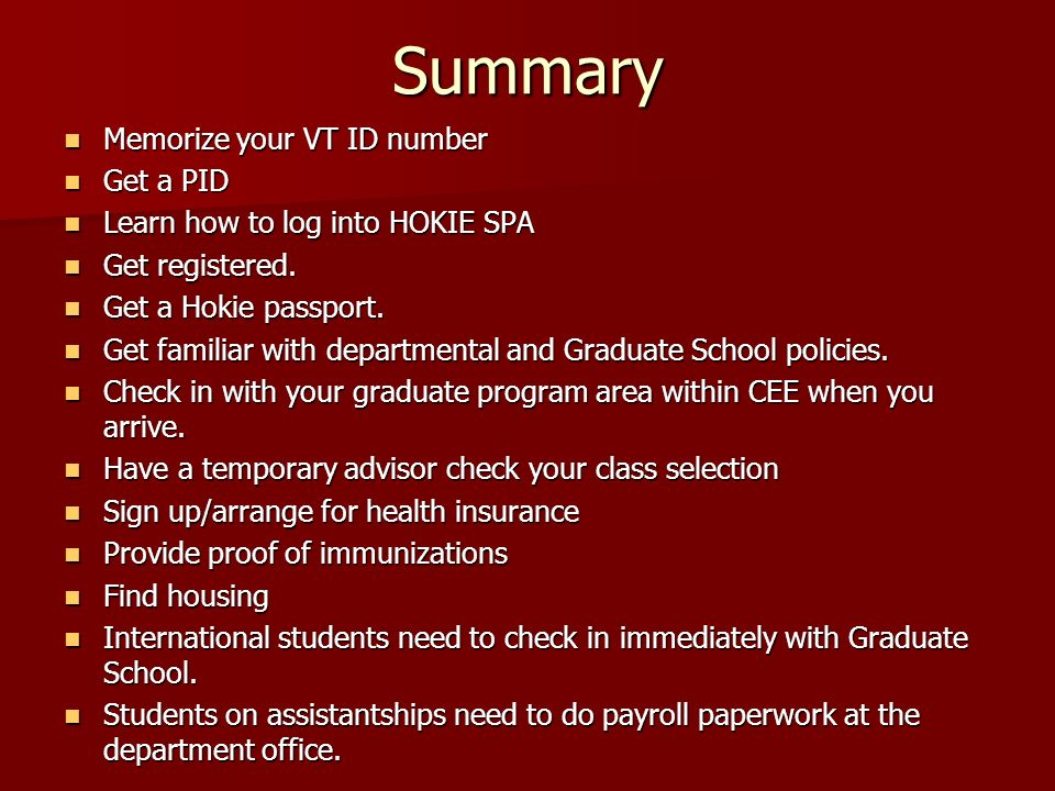 Unofficial Information For Cee Graduate Students We Are Glad You