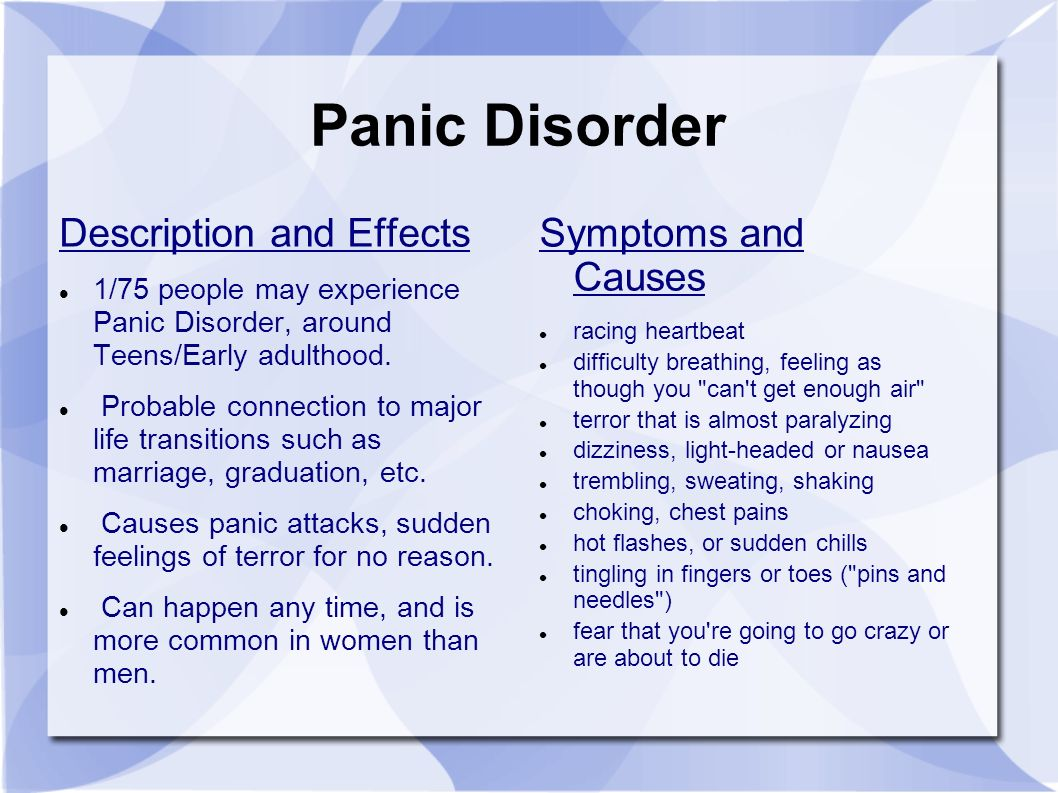 anxiety disorders by: previous ap psychology students. - ppt download