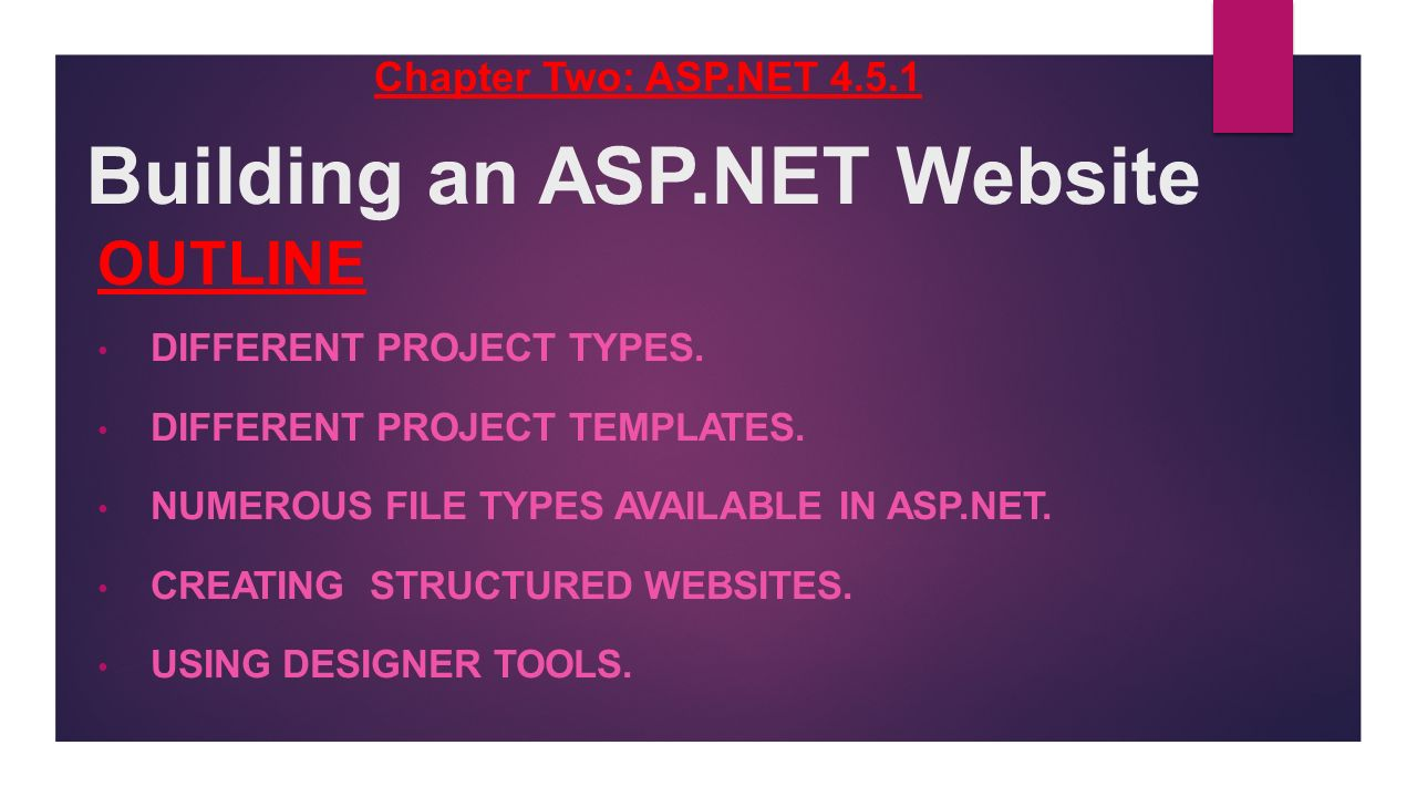 Building An Asp Website Outline Different Project Types