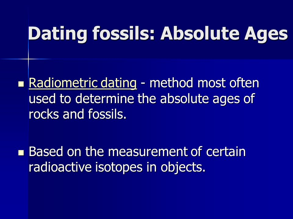 How do radioactive isotopes dating fossils