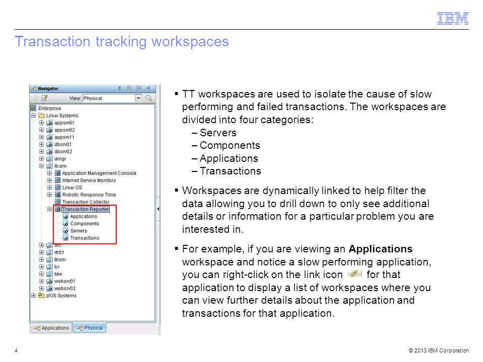 2013 IBM Corporation IBM Tivoli Composite Application