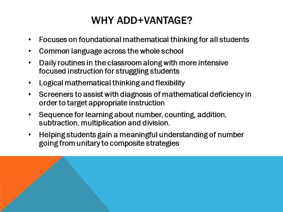 Addvantage Math Woodland Park School District Why Addvantage