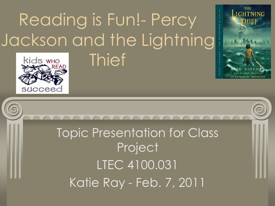 reading is fun percy jackson and the lightning thief topic