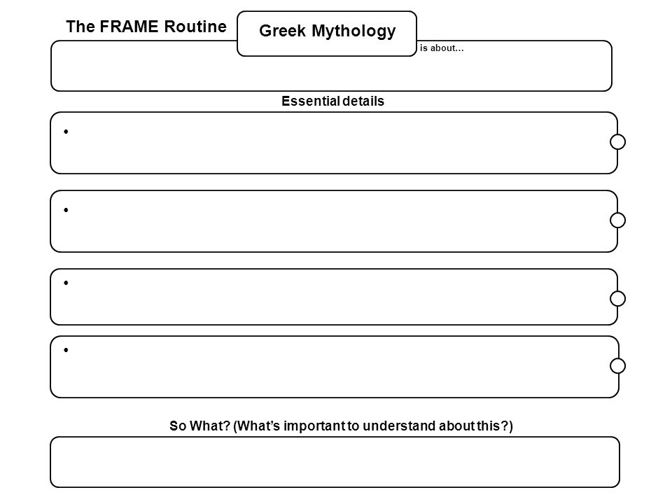 why is it important to learn about greek mythology