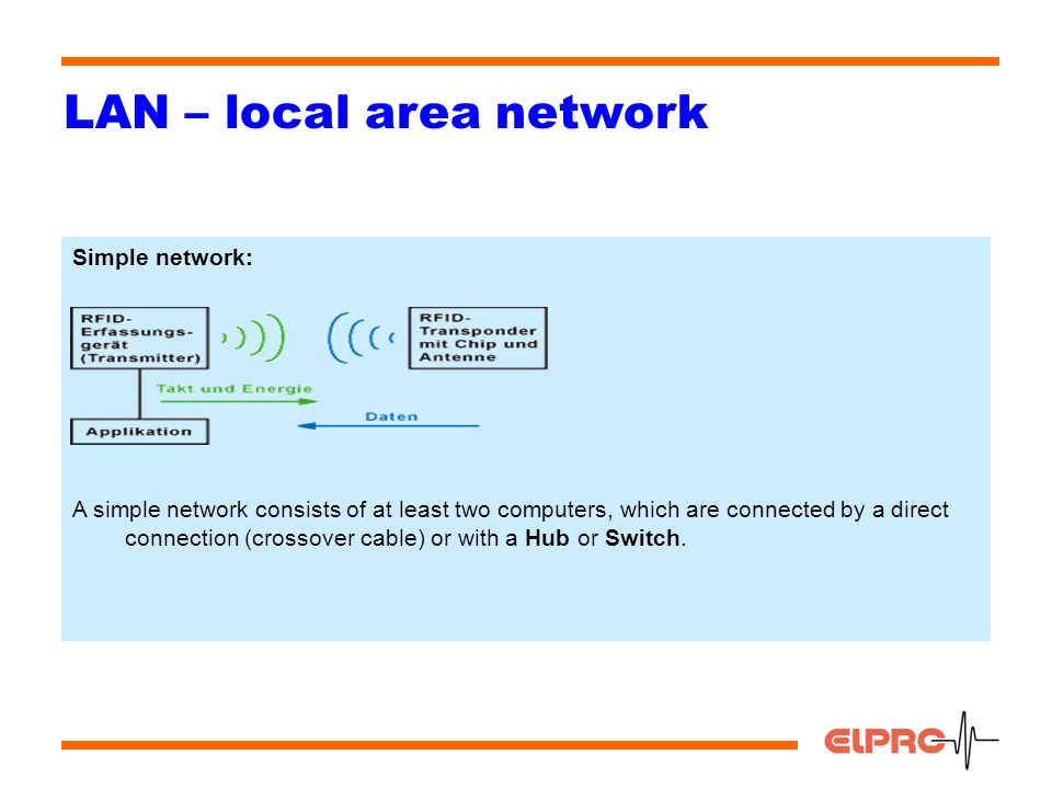 1 lan local area network overview 1types of networks 2work 4 4 lan local area network simple network a simple network consists of at least two computers which are connected by a direct connection crossover publicscrutiny Choice Image