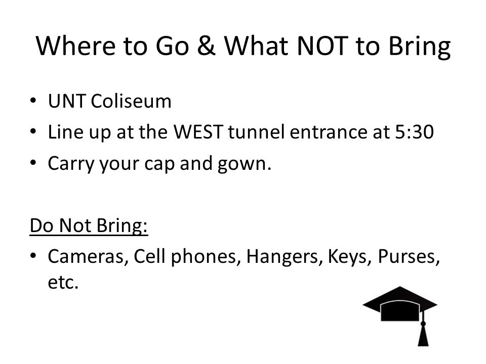 Graduation Information For The Northwest High School Class Of Ppt