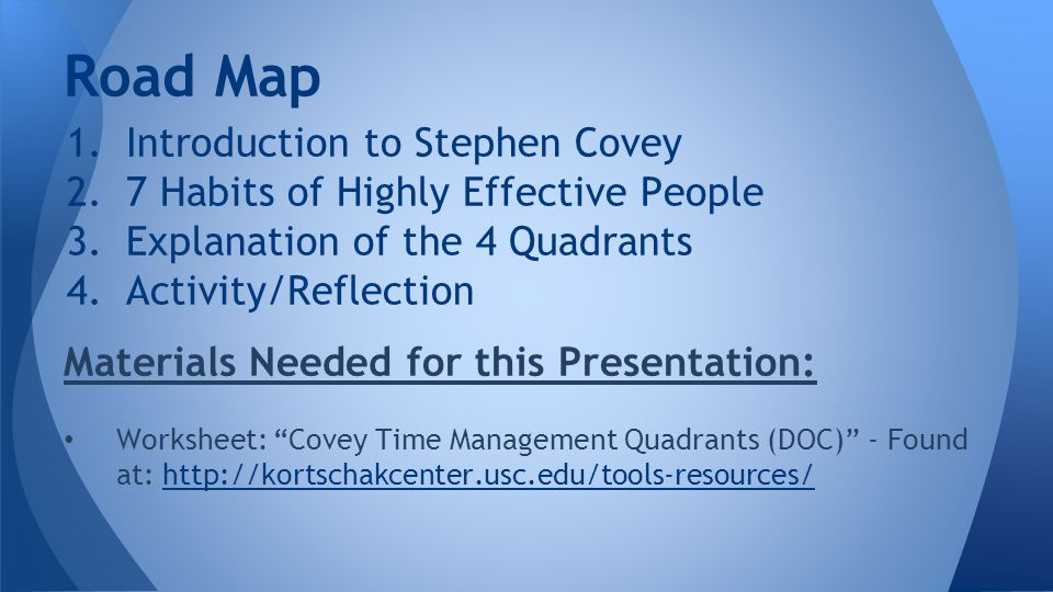 covey 7 habits analysis The 7 habits of highly effective people, first published in 1989, is a business and self-help book written by stephen covey covey presents an approach to being effective in attaining goals by aligning.