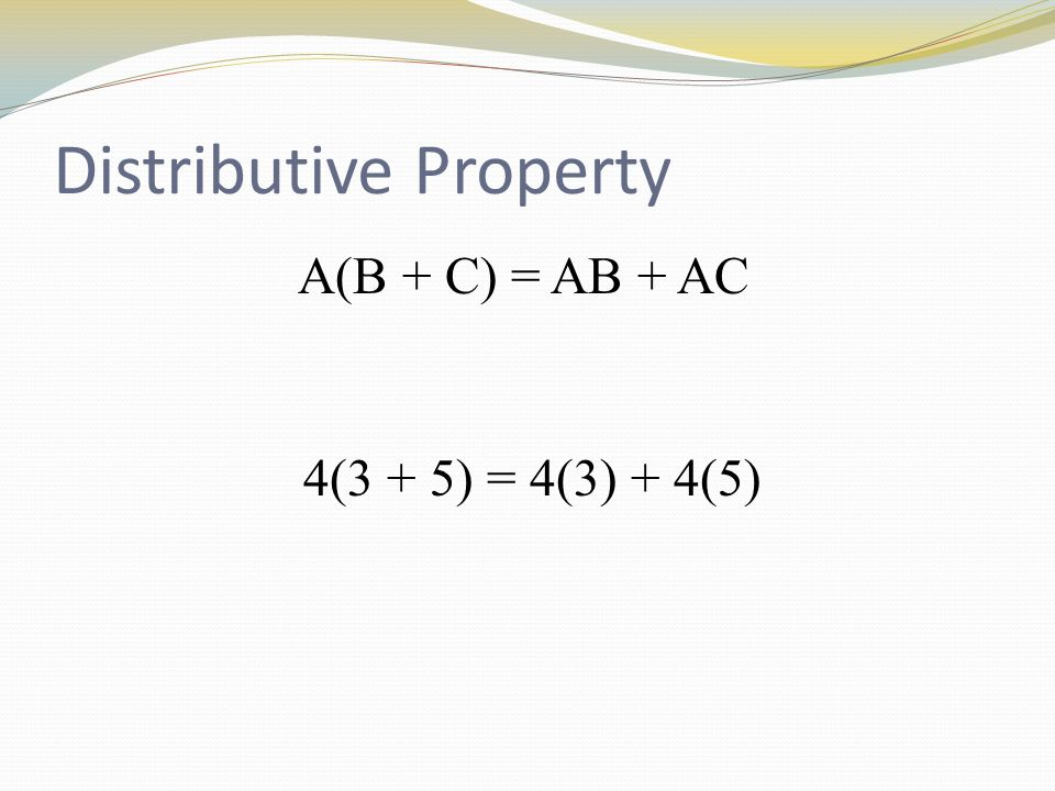 EXAMPLE: Use the distributive property to find each product.