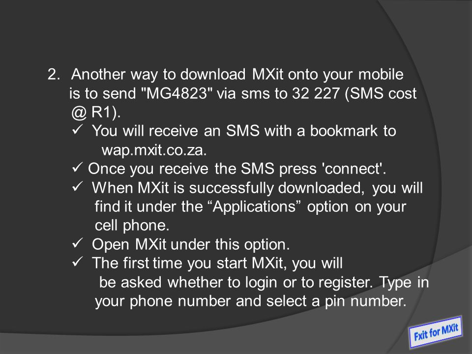 Mxit: how to download and use mxit on mobile phones.