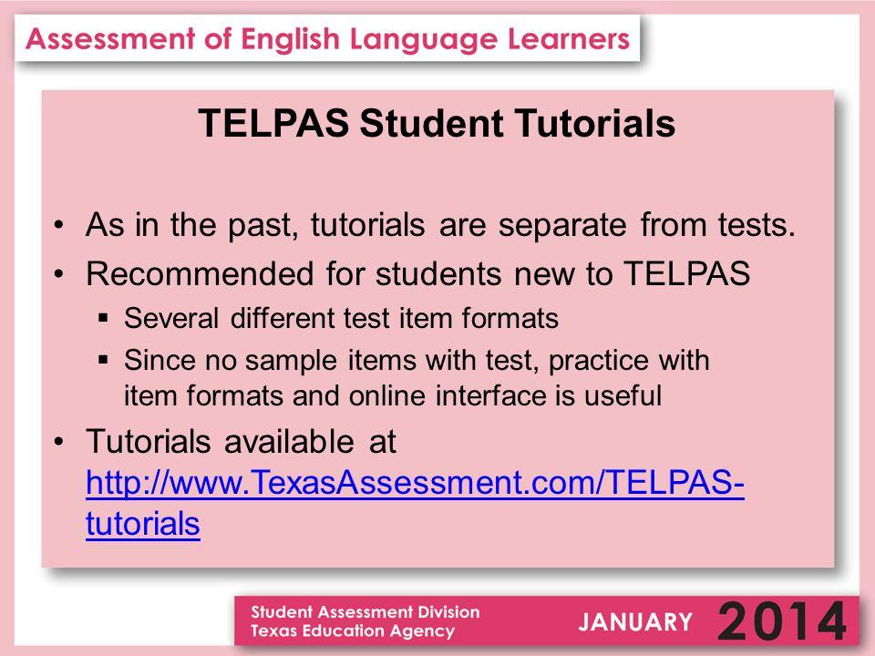 TELPAS  Texas English Language Proficiency Assessment System