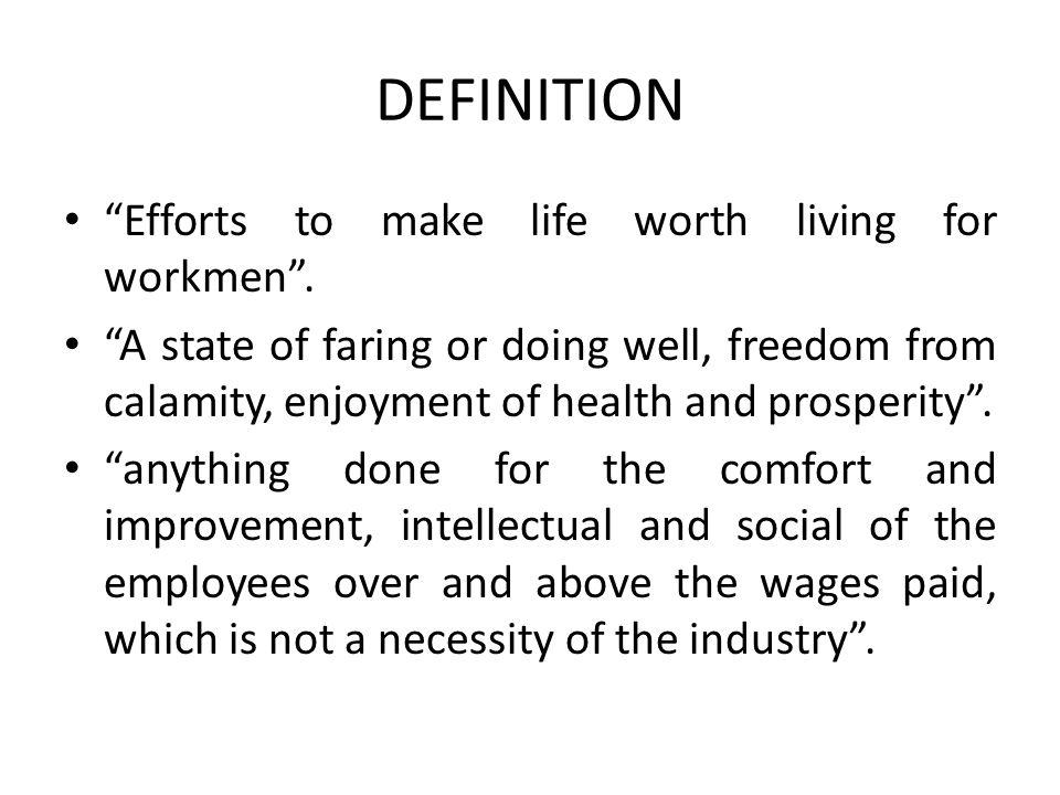 essay on labour welfare