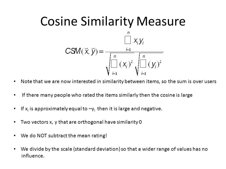 Cosine Similarity Item Based Predictions 77B Recommender