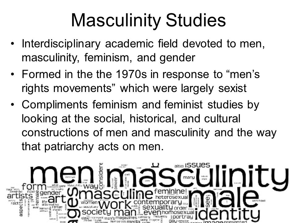 Masculinity and feminism