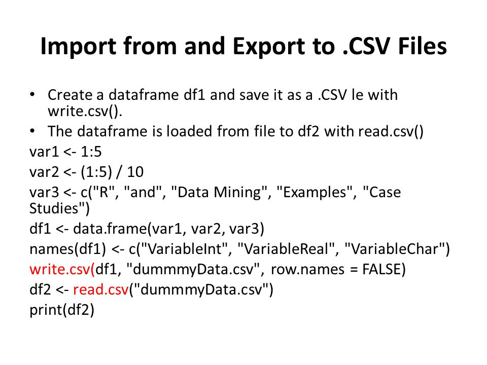R Data Import/Export Dr. Jieh-Shan George YEH - ppt download