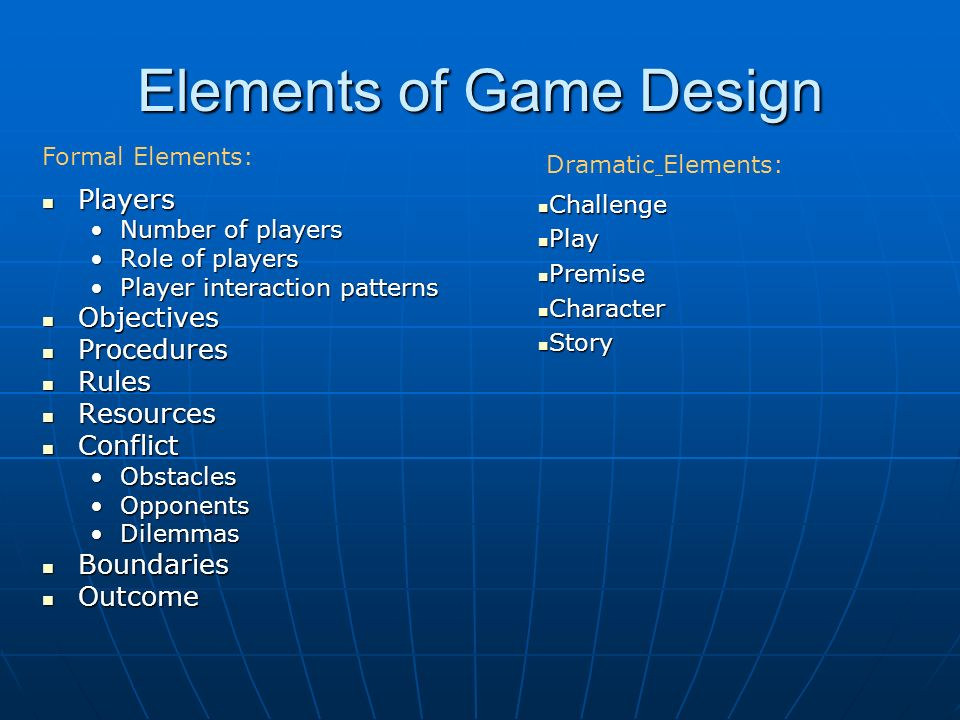 24 Elements Of Game Design