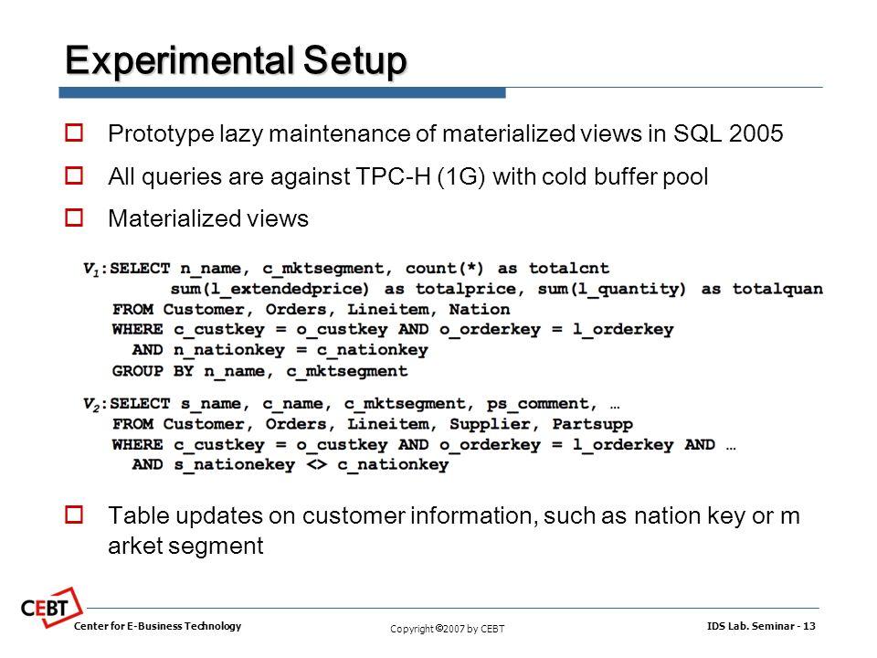 Lazy Maintenance of Materialized Views Jingren Zhou, Microsoft