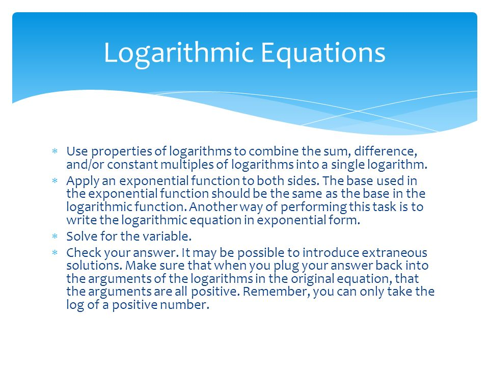 Chapter solving exponential and logarithmic functions. - ppt download