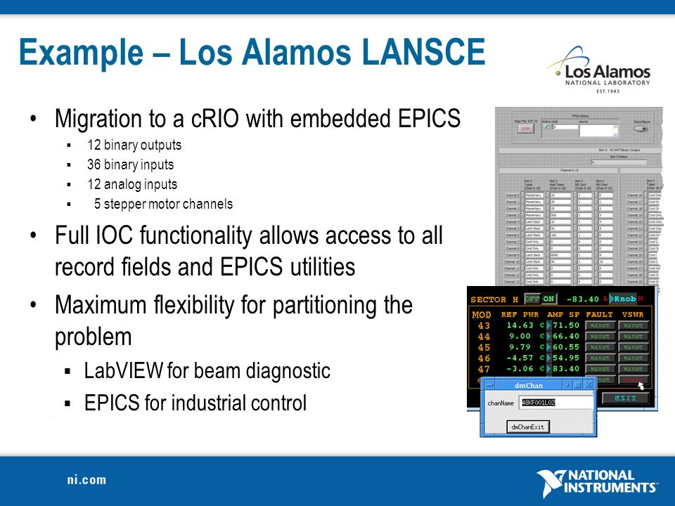 1  EPICS IOC on CompactRIO EPICS Collaboration Meeting Fall ppt download