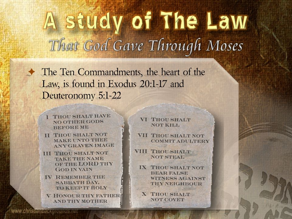 ten commandments exodus 20 and deuteronomy 5