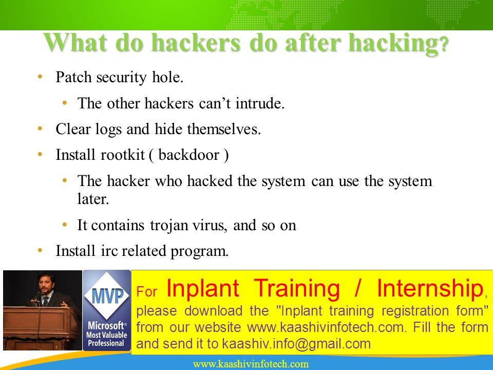 Ethical Hacking KaaShiv InfoTech For Inplant Training / Internship