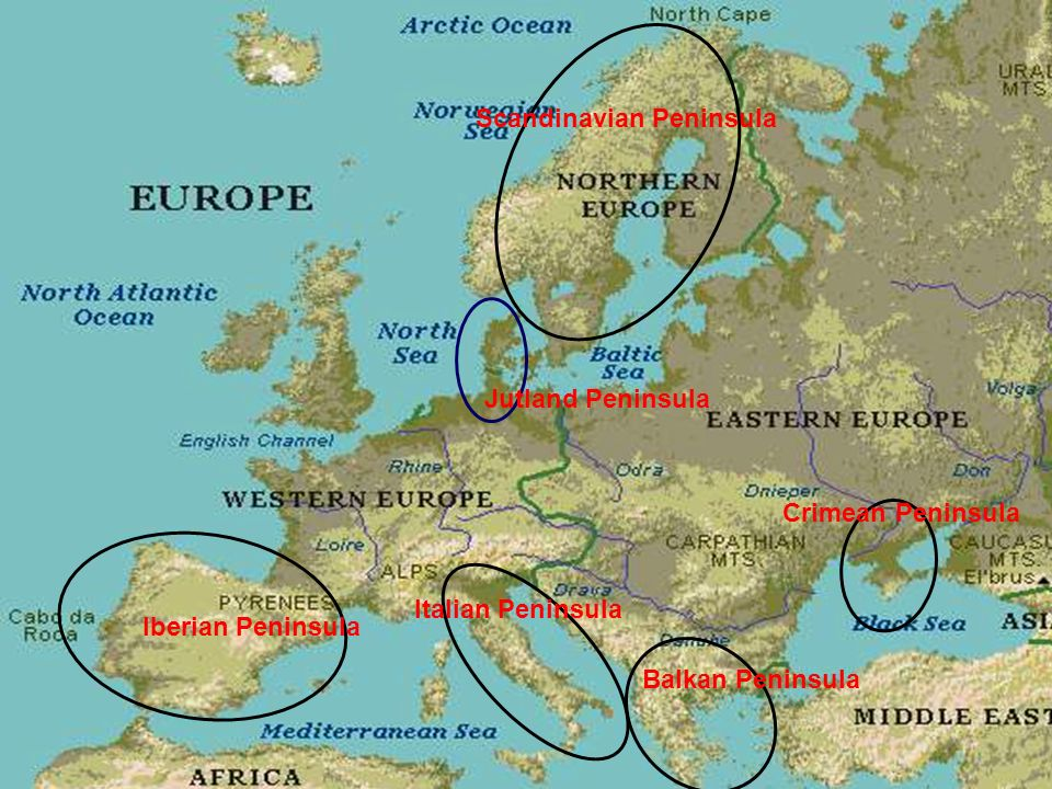 European Geography 3 800 Square Miles Peninsulas Europe Is Made