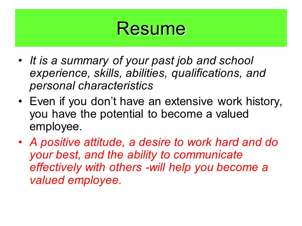 How To Create A Resume Before Getting Started Ask Yourself The