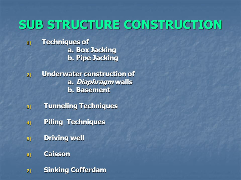 CONSTRUCTION TECHNIQUES, EQUIPMENTS & PRACTICE Welcome  - ppt download