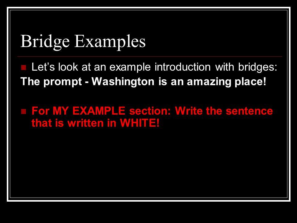 bridge sentence analogies