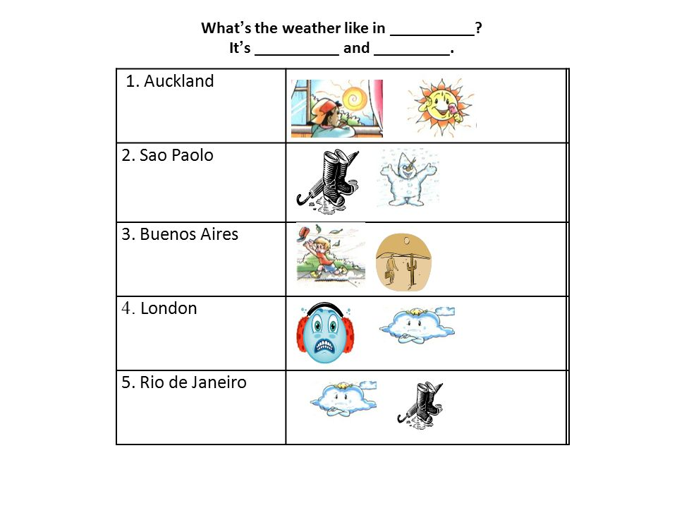 1-wet 2-sunny 3-hot 4-rainy 5-cold 6-windy 7-dry 8-snowy 9-cloudy ( ) Match the pictures to the words: