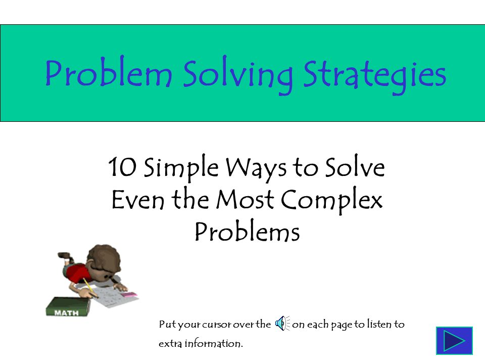 10 Simple Ways to Solve Even the Most Complex Problems Problem ...