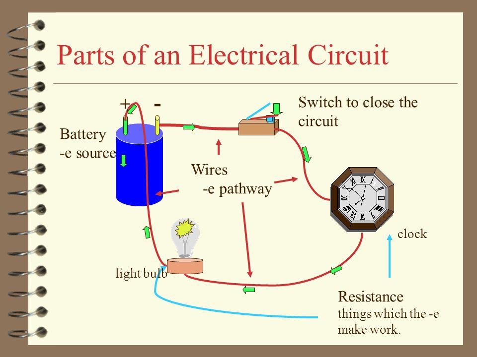 114 Electric Circuits Identify Parts Of A Circuit Trace The Path