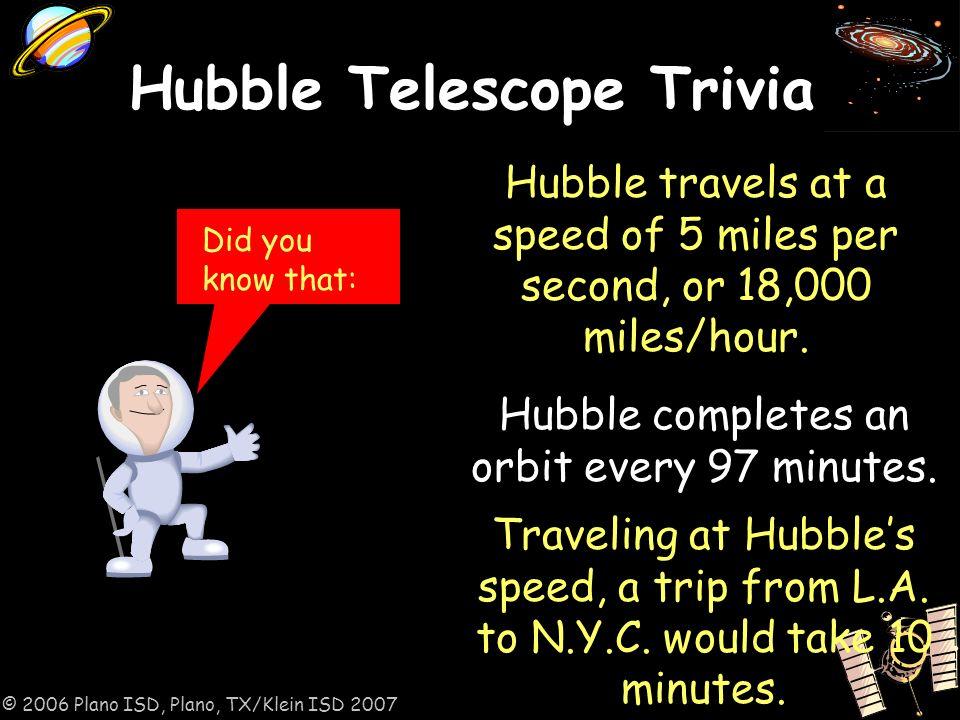 2006 Plano ISD, Plano, TX/Klein ISD Edwin Hubble Hubble was