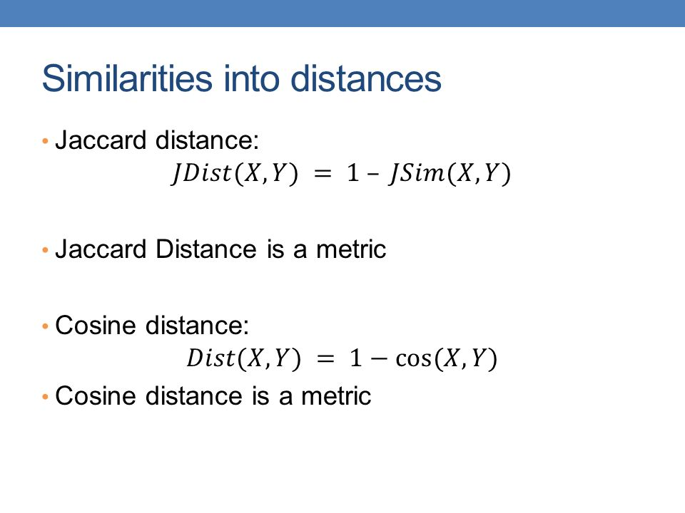 DATA MINING LECTURE 5 Similarity and Distance Recommender