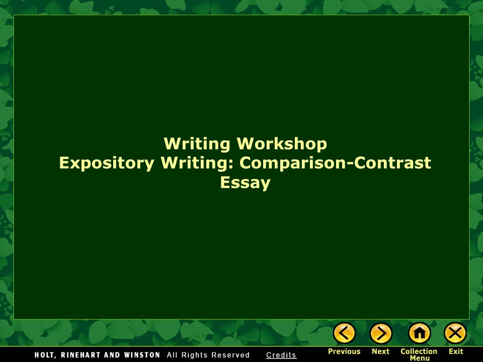 Writing Workshop Expository Writing Comparisoncontrast Essay   Writing Workshop Expository Writing Comparisoncontrast Essay Script Writing Services also Top 10 Business Plan Writers  Small Essays In English