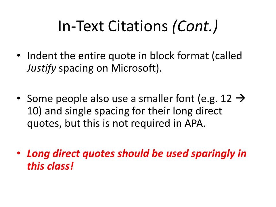 Basic APA Citations When Do I Need To Cite My Information Direct Stunning Apa Direct Quote