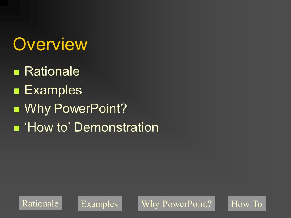 Creating listening guides with powerpoint rick dammers university of rationale exampleswhy powerpoint how to overview rationale examples why powerpoint toneelgroepblik Choice Image