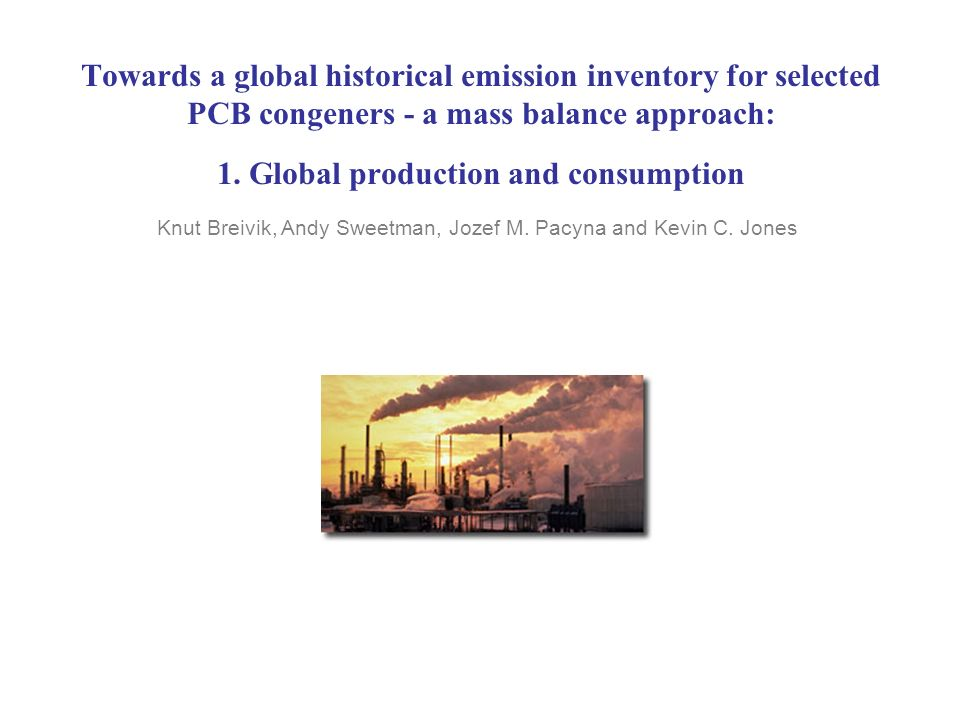 Towards a global historical emission inventory for selected