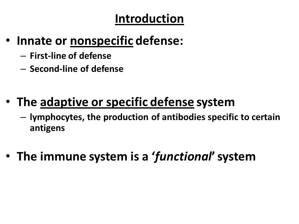 Immunity Biology 2122 Chapter 21 Introduction Innate Or