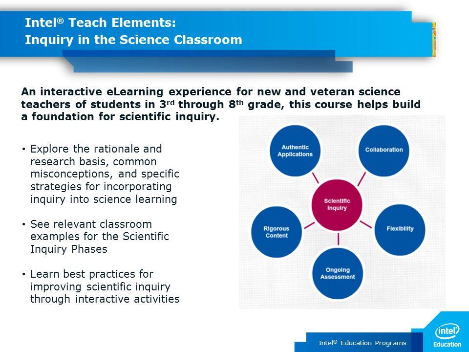 Intel ® Education Programs Intel ® Teach Elements Compelling