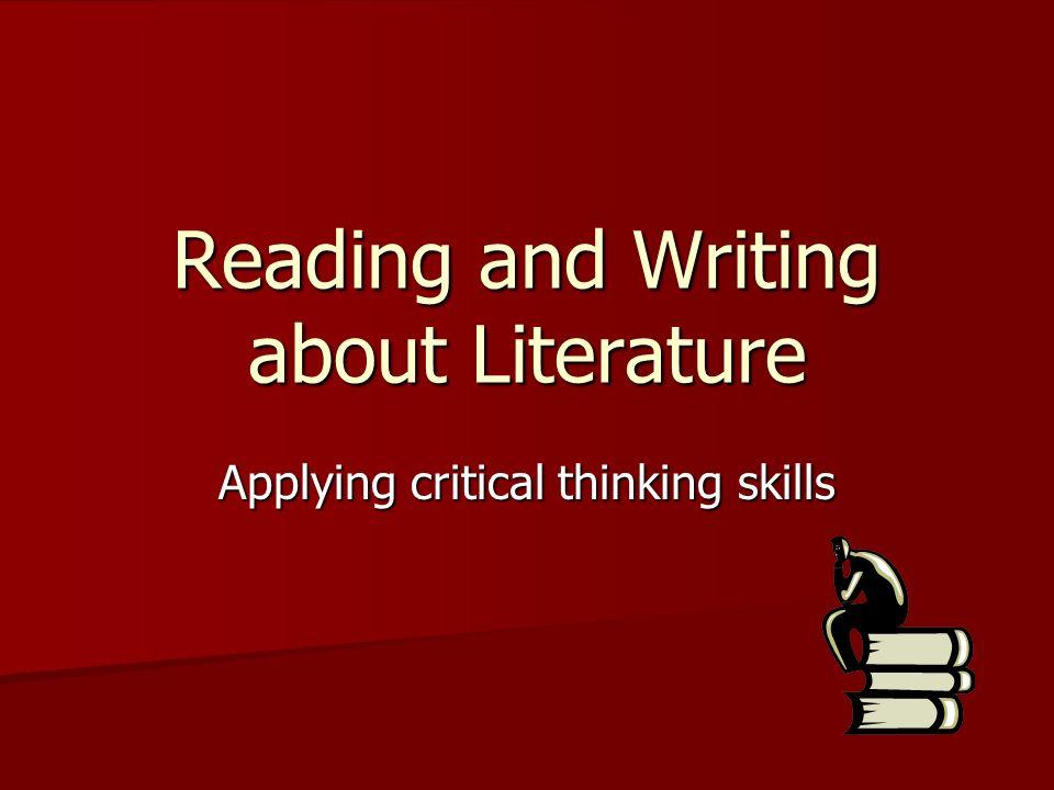 applying critical thinking skills