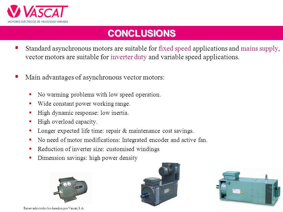 MAC DIVISION Asynchronous vector motors  Reservados todos